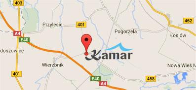 Mapa dojazdowa do Kamar